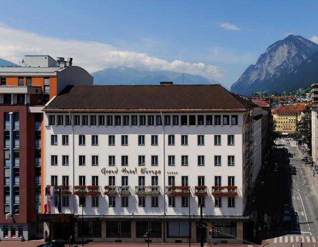 Grand hotel europa golfurlaub mit fairway golfreisen for Design hotel innsbruck